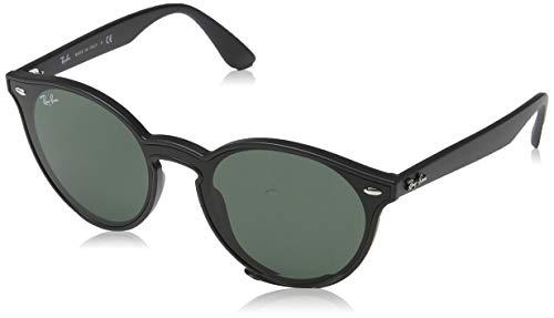 Ray-Ban RB4380N Blaze Round Sunglasses, Matte Black/Green, 37 ()