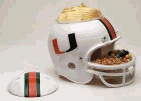 NCAA University of Miami (Florida) Snack Helmet
