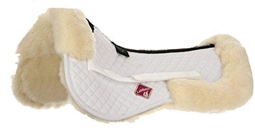 Le Mieux Lamb Skin Half Pad Natural Wool White Fabric, Large