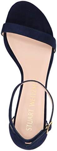 Luxury Fashion | Stuart Weitzman Dames SIMPLESUEDENICEBLUE Donkerblauw Suôde Sandalen | Lente-zomer 20