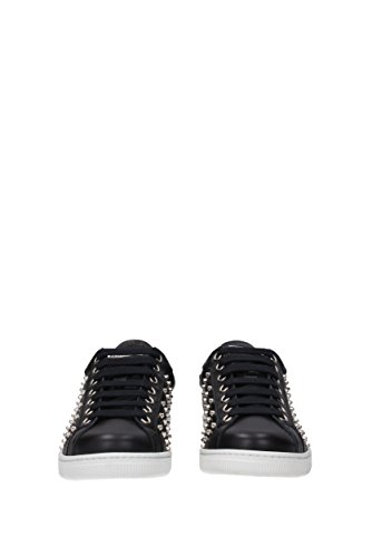 DSquared Dsquared2 Sneakers Santa Monica Men - Leather (SN403538) UK Black cheap sale shop for hTtXNzslI9