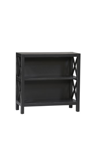 Linon Anna Collection 3-Shelf Bookcase (2 Shelf Deep Bookcase)