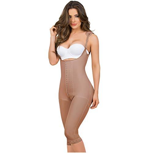 MARIAE 9152 Slimming Full Body Shaper for Women   Fajas Colombianas Mocha XL