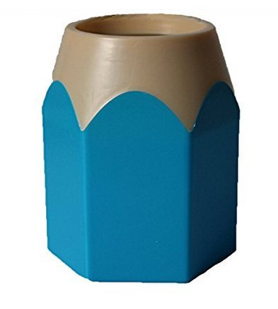 dise/ño en forma de bol/ígrafo Pen Pot jarr/ón de pinceles de maquillaje organizador de escritorio escuela oficina suministro de almacenamiento itemer Creative l/ápiz soporte azul