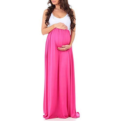 Senza Corte Elegante Donna Estivo Alta Maniche Maternity