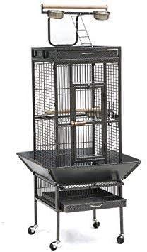 jaula para loro grande de color gris oscuro 156*46*46cm