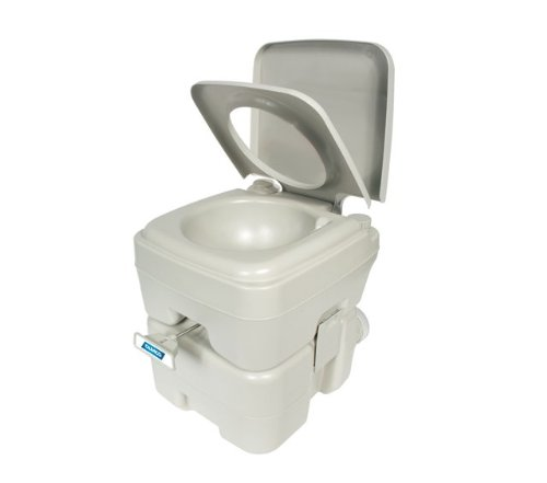 Camco Standard Portable Travel Toilet, Designed for Camping, RV, Boating And Other Recreational Activities (5.3 gallon) (41541) (Composting Toilet)