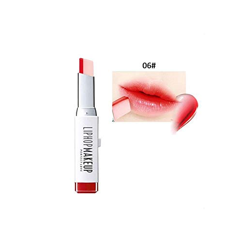Liphop Lip Gloss Lipstick Makeup 8 Color Gradient Color Korean Style Two Color Tint Lip Stick Lasting Waterproof Lip Balm 06 from Beitchiu