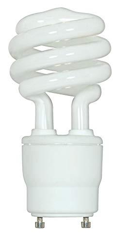 Satco 18GU24/27 Compact Fluorescent Spirals CFL, 18W GU24 T2, Bulb [Pack of 12] ()