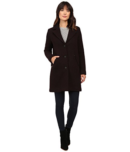 Marc New York Womens Tara Pressed Boucle Wool-Blend Coat, 6