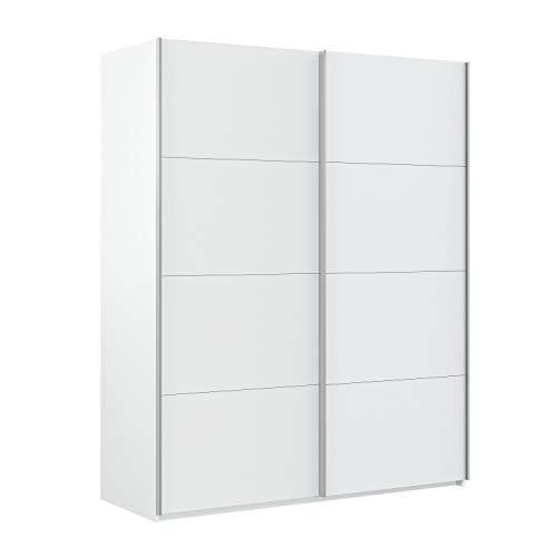 Habitdesign Armario Ropero, Dormitorio, Armario 2 Puertas correderas, Modelo Hera, Acabado en Color Blanco Artik, Medidas 150 cm (Ancho) x 200 cm (Alto) x 60 cm (Fondo)