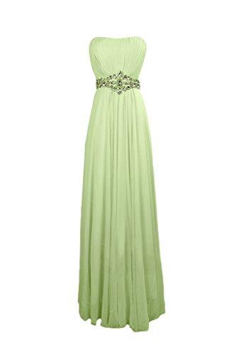 A con da elegante o abiti line lega Sage diamanti cerimonia per sera da Sunvary Chiffon E4q7U