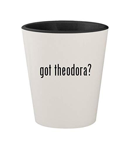 got theodora? - Ceramic White Outer & Black Inner 1.5oz Shot Glass -