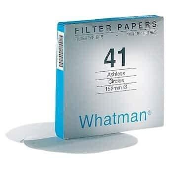 Whatman 1441-240 Ashless Quantitative Filter Paper, 24.0cm Diameter, 20 Micron, Grade 41 (Pack of 100) by Whatman