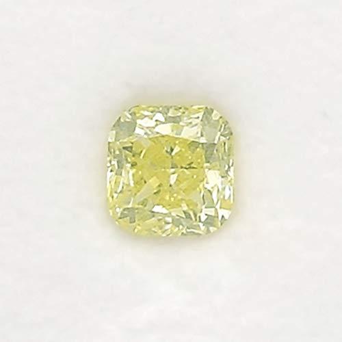 0.65 Carat Fancy Green Yellow Loose Diamond Natural Color Radiant Cut GIA Cert - Fancy Yellow Radiant Cut Diamond