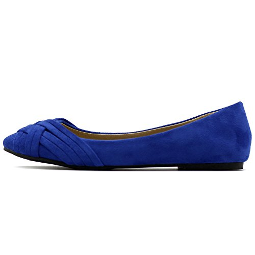Scarpa Da Balletto Donna Ollio Cute Casual Comfort Flat Blue