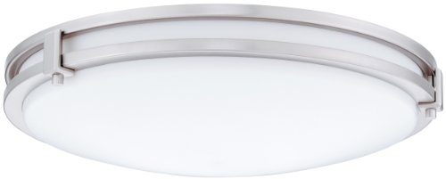 Lithonia Lighting FMSATL 16 20830 BN M4 Antique Brushed Nickel LED Saturn Flushmount by Lithonia Lighting