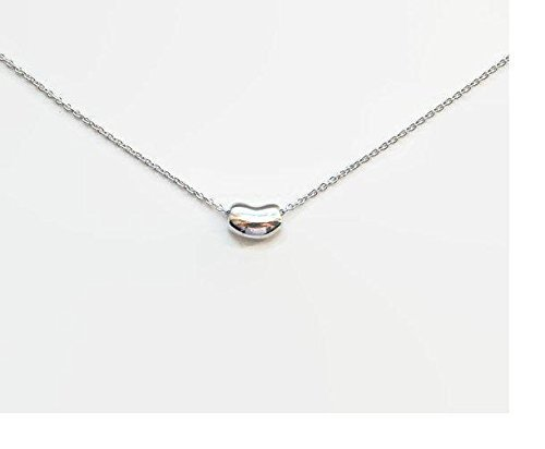 48426bf02416 Image Unavailable. Image not available for. Color  Bean necklace - sterling  silver ...
