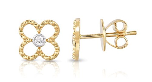 - Diamond Earrings in 14k Yellow Gold