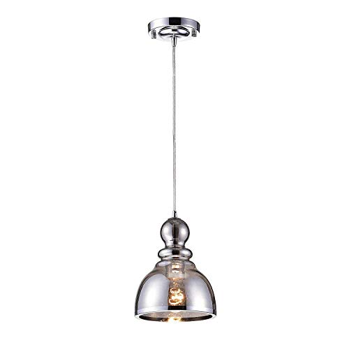 Jojospring Alita Chrome Mini Pendant with Smoked Bubble Glass (Pendant Caps Chrome Mini)
