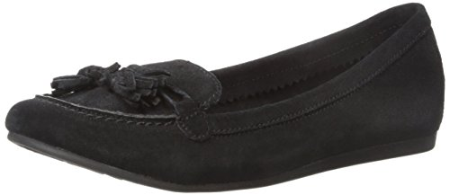 crocs Women's Lina Suede Slip-On Loafer, Black, 9 M - Suede Black Croc