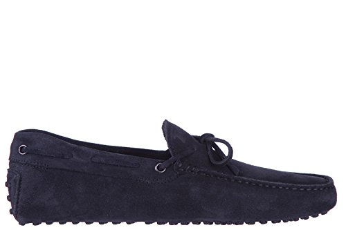 tods-mens-suede-loafers-moccasins-laccetto-gommini-blu-us-size-95-xxm0gw05470re0u805