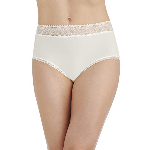 Vanity Fair Women's Flattering Lace Brief Panty 13281, Coconut White, 2X-Large/9