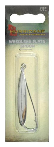 Hurricane Weedless Flat Spoon, 1/2-Ounce, Silver