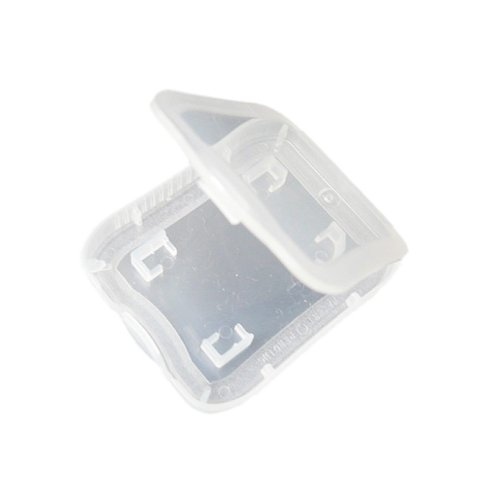 Plastic Secure Digital Memory Card Case and Holder for SD - 3 Case Pack no memory cards included