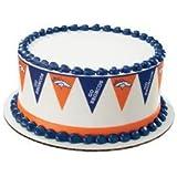 Denver Broncos {Football Pennant} Edible Cake Border
