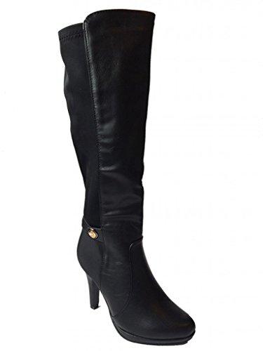 Forever Juli-27 Womens Platform Pumps Knee High Boots Black ZRu44Rx