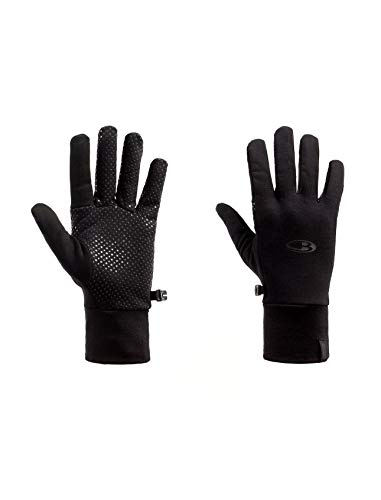 (Icebreaker Merino Sierra Gloves, New Zealand Merino Wool, Black, Medium)