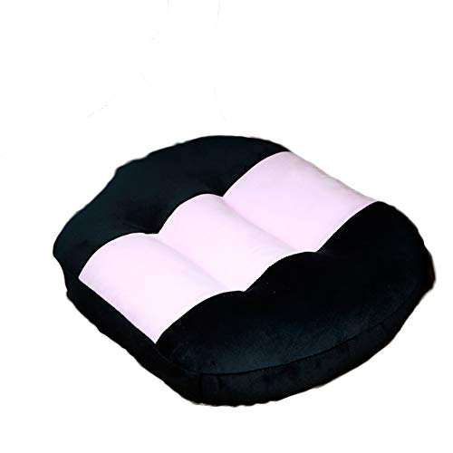 ScheGsy Car Thickening Cushion,Heightening Height Boost mat Portable seat Pads Breathable Comfortable Soft Velvet Pillow Waist Cushion-H 40x45x12cm
