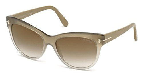Tom Ford Sunglasses TF 430 Lily 59G Beige Transparent (Beige Lily Shade)