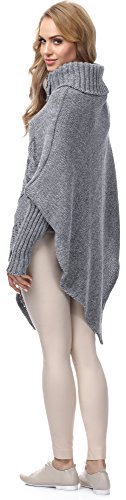Merry Style Mujer Poncho Moena Melange/Gris