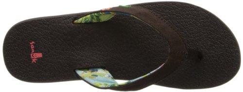 Sanuk Yoga Flip Chocolate Flops Paradise Coral Women's 6p6UgqP