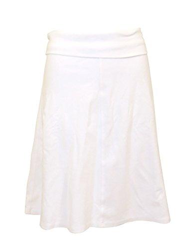 Hardtail Roll Down Short Skirt (XS, White) (Hardtail Roll)