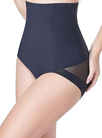 VENDAU Women Body Shaper Waist Shapewear Underwear Tummy Control High Waisted Trainer Slim Panties Girdle Slimming Seamless - Black - Small