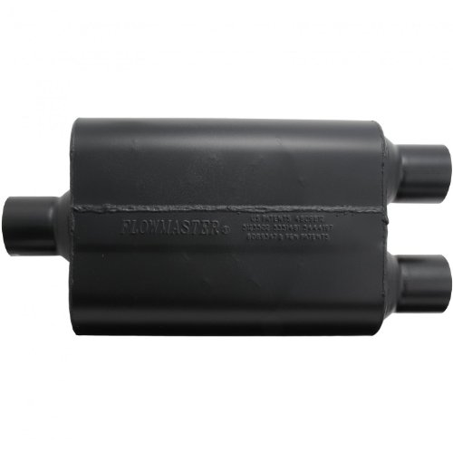 Flowmaster Super 44 Delta Flow Muffler (Flowmaster 9425472 Super 44 Muffler - 2.50 Center IN / 2.50 Dual OUT - Aggressive Sound)