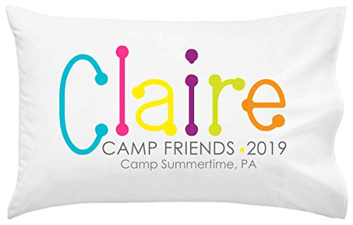 Script and Scribble Personalized Camp Autograph Pillowcase | Autograph Summer Camp Pillowcase | Sleepaway Camp Pillow Cover