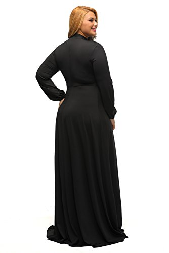 Lalagen-Womens-Vintage-Long-Sleeve-Plus-Size-Evening-Party-Maxi-Dress-Gown