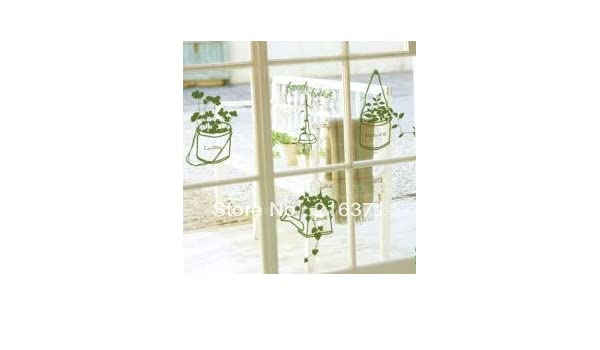 Puerta corredera de cristal fondo pared con ventana de vidrio adhesivos pegatinas canasta de flores: Amazon.es: Hogar