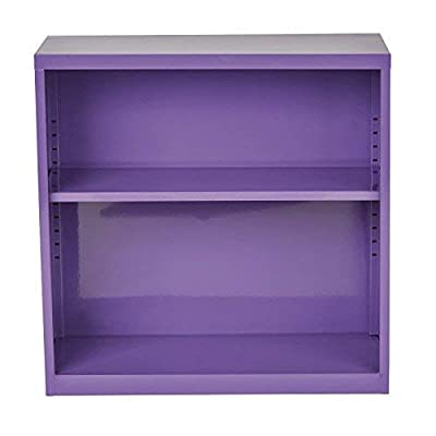 OSP Designs Metal Bookcase, Purple: Kitchen & Dining
