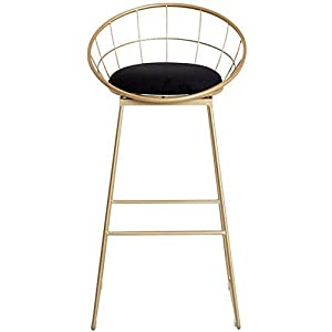 Stylish-Simplicity-Metal-Height-Footrest-6575cm-Bar-Stools-with-Backrest-Fabric-Velvet-Barstool-Metal-Legs-Dining-Chair-Breakfast-Stool-for-Kitchen-Pub-Caf-Bar-Counter-Stool-Max-Load-20