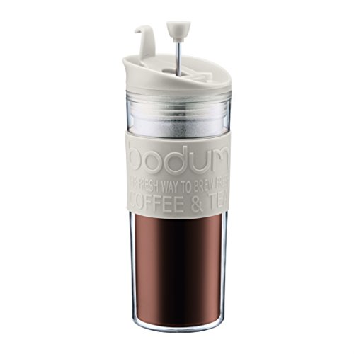 Bodum Insulated Plastic Travel French Press Coffee and Tea Mug