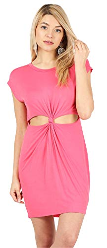 Coral Dress for Women Reg and Plus Size Coral Dress Sexy Bodycon Dress Sleeveless Beach Dress Coral Pink Dress (Size Large US 10-12, Coral) - Cut Coral Out