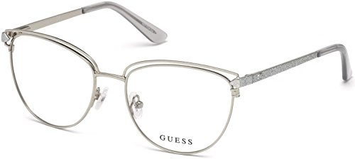 Guess GU2685 Eyeglass Frames - Shiny Light Nickeltin Frame, Shiny Light Nickeltin GU268553010