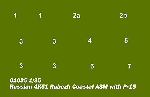 /Modellino Russian 4/K51/rubezh Coastal ASM withp di 15 Trumpeter 01035/