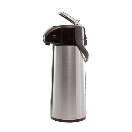 Economy Airpot - Service Ideas AYS30S Economy Airpot with Lever, Stainless Steel Lined, 3 L