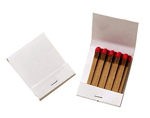 50 Plain White Matches Matchbooks Wedding, Birthday -